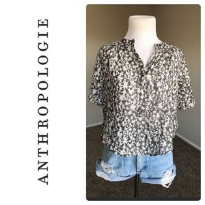 Anthro Vanessa Virginia Abstract Print Blouse